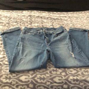 Lauren Conrad denim cropped jeans